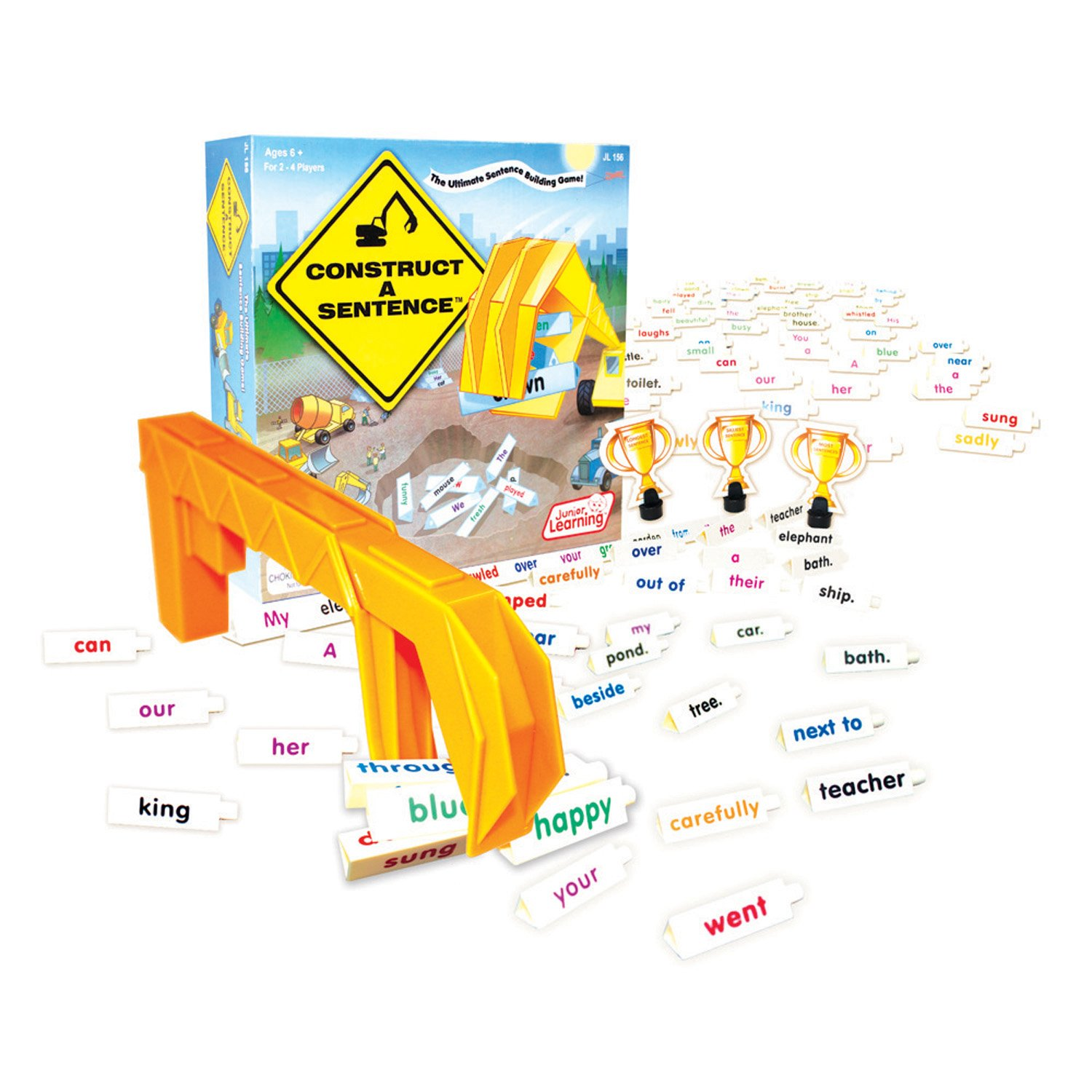 Amazon construct a sentence board game toys games ccuart Images