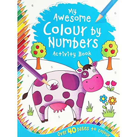 My Awesome Colour By Numbers Activity Book: Amazon.co.uk: Kitchen & Home