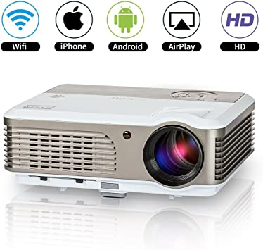 Proyector LED Android WiFi 3800 lúmenes, HD 1080P Compatible ...