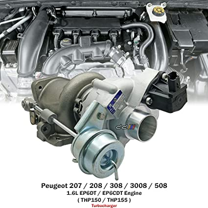 Amazon.com: Turbo Turbocharger For Peugeot 207 208 308 3008 508 RCZ 1.6L EP6CDT THP155 K03: Automotive