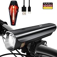 Degbit LED Fahrradlicht Set, StVZO Zugelassen USB Wiederaufladbare LED Fahrradbeleuchtung Set, Fahrradlampe Set, LED Frontlichter und Rücklicht, 2600mAh Samsung Akku USB Aufladbare Fahrradlichter