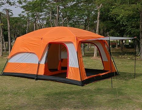 VWEGRGFEW Tienda de campaña para Dos Salas, Tienda de campaña Grande para Exteriores, 6-8 Personas, 8-12 Personas, Dos Habitaciones, un Pasillo, Camping: Amazon.es: Deportes y aire libre