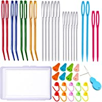 Weave Education Sewing Knitting Cross Stitch Knit Needles By yueton yueton 24pcs Colorful Plastic Sewing Needles