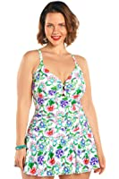 dc6499ca9d Plus Size Midsummer Floral Swimdress from Always For Me at Amazon ...
