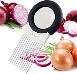 ORBLUE All-In-One Onion Holder, Odor Remover, Slicer, Cutter and Chopper
