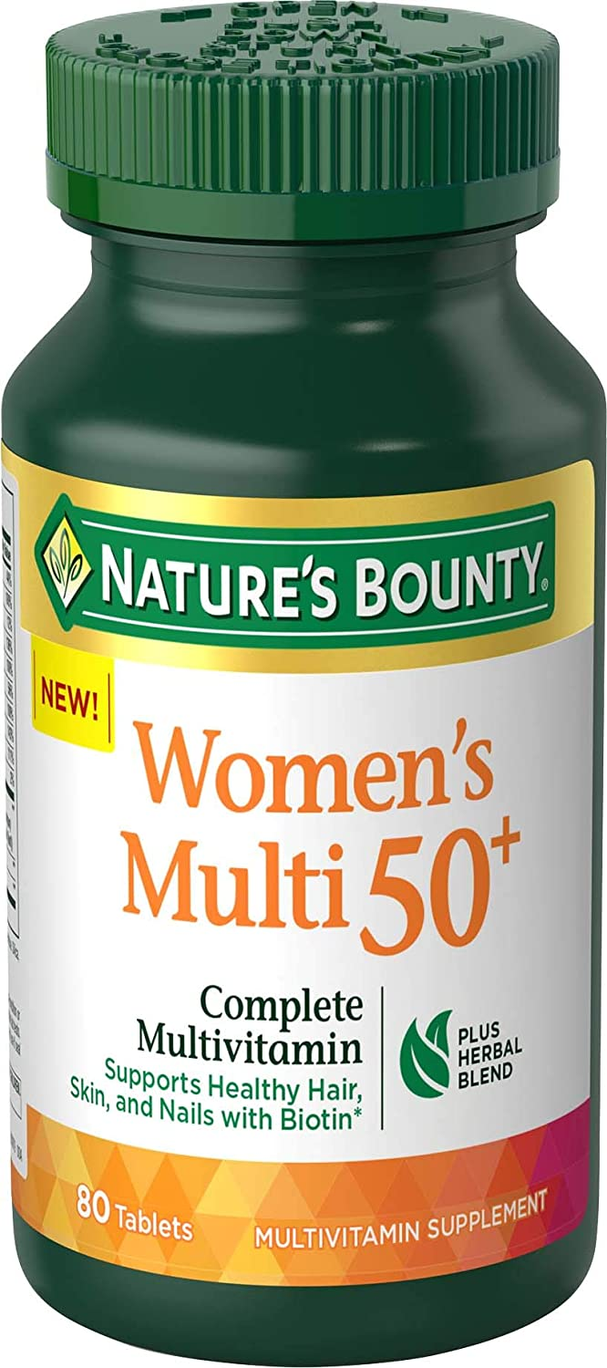 Nature's Bounty Adult Women 50+ Complete Multivitamin, 80 Tablets
