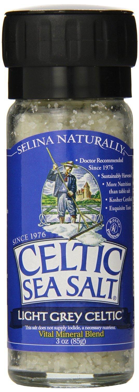 Celtic Sea Salt Light Grey Celtic Large Grinder, Sea Salt, 3 Ounce (Pack of 2)