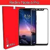 CASE U Edge 6D Tempered Glass Screen-Protector for Redmi Note 6 Pro (Black)