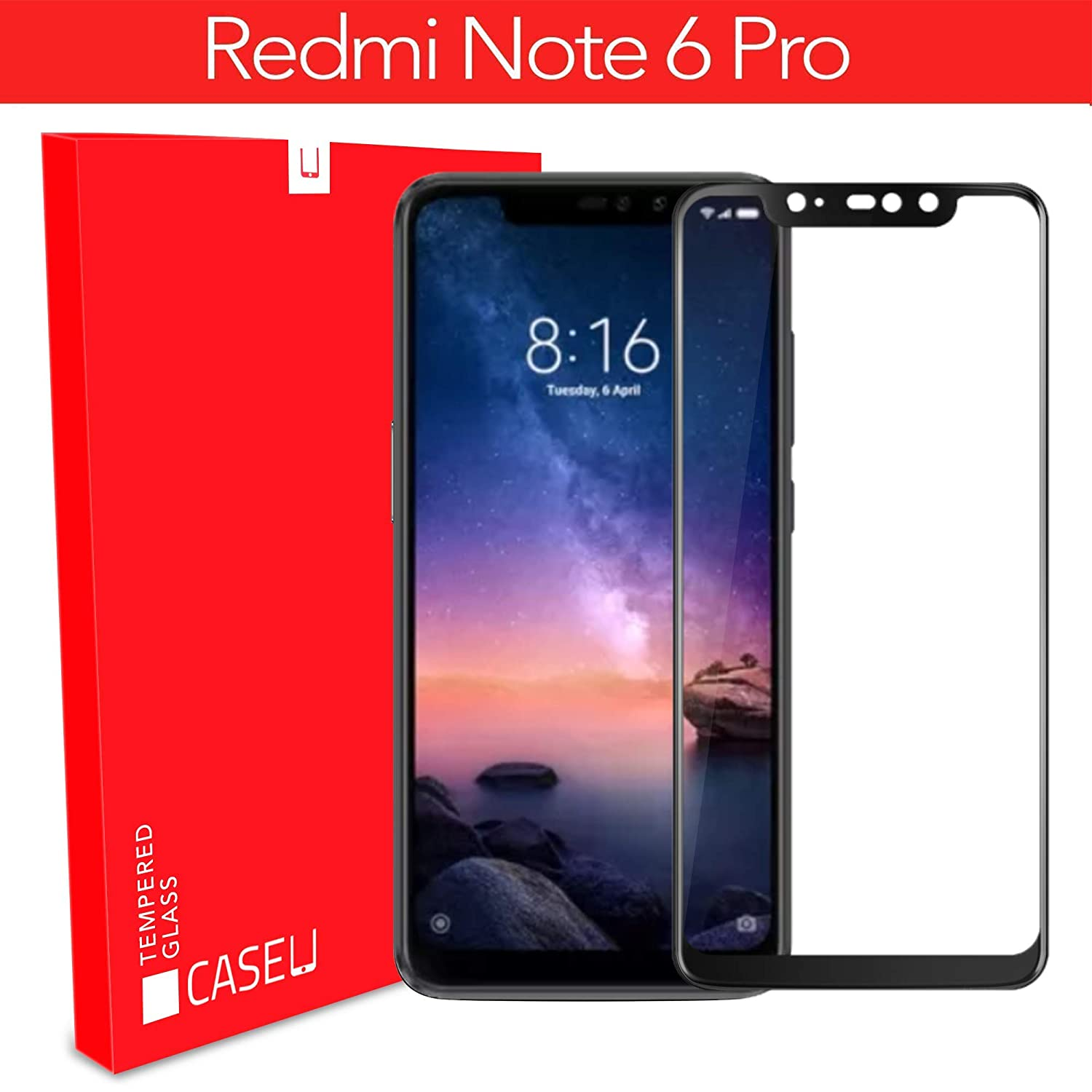 3137e8989 CASE U Edge 6D Tempered Glass Screen-Protector for  Amazon.in  Electronics