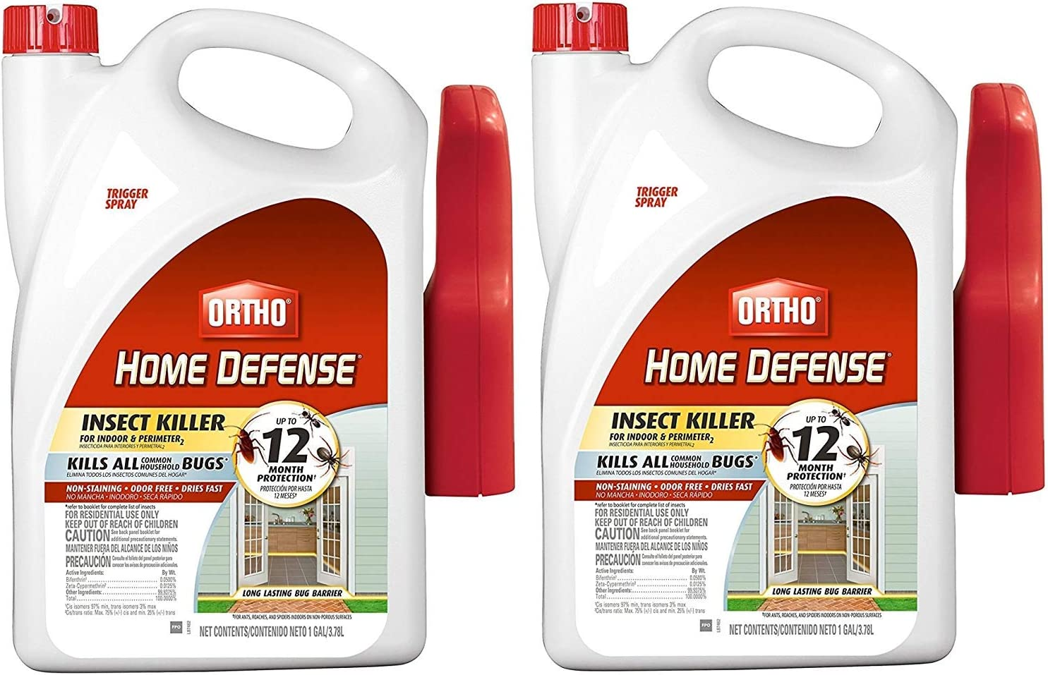 Ortho 0220810 Home Defense Max Insect Killer for Indoor and Perimeter RTU Trigger, 2Pack