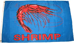Trade Winds 3x5 Advertising Shrimp Blue Seafood Restaurant Flag 3'x5' Banner Grommets Premium Fade Resistant