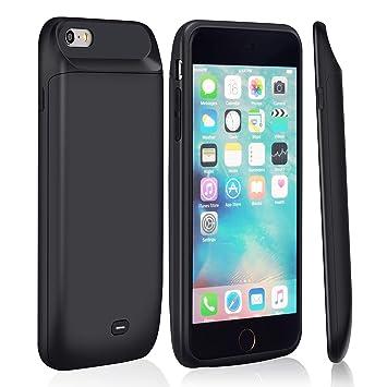 Funda Bateria iPhone 6s/6,MSDJK 5000mAh Carcasa Bateria, Externa Recargable Protector Cargador Power Bank Case para Apple iPhone 6s/6 (4.7
