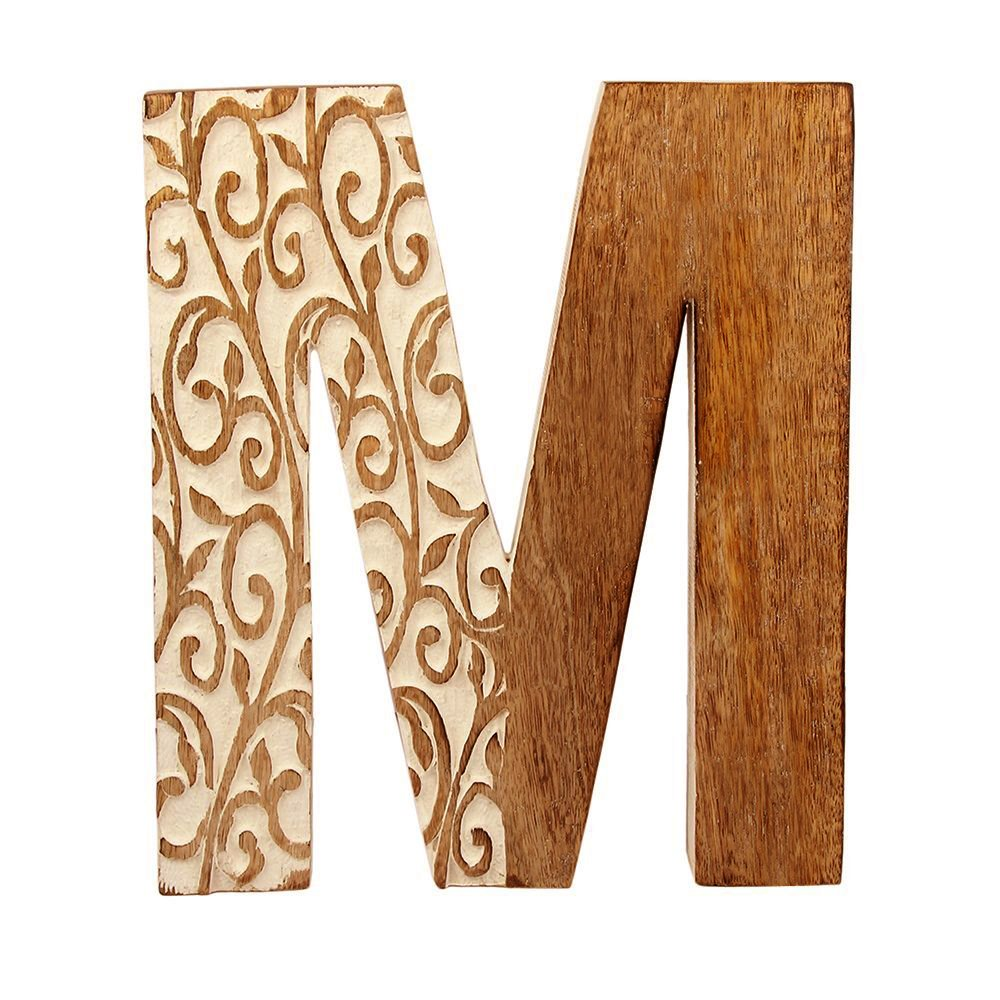 aheli Alphabet Wooden Letter Party Wedding Decoration Wall Decor Light - Letter M