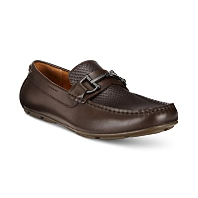 Alfani Mens Len Leather Square Toe Penny Loafer, Brown, Size 11.0 | Loafers & Slip-Ons