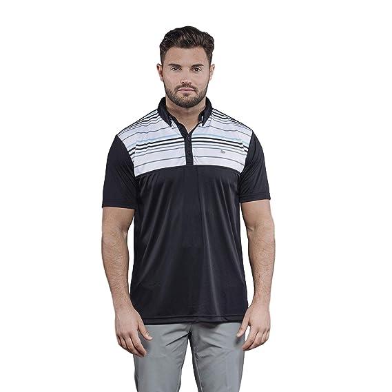 d21549cf Walrus, Mens Apparel Lucas Chest Stripe Golf Clothing Polo T Shirt White:  Amazon.co.uk: Clothing