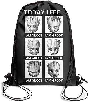 YAYAZAN Clear Drawstring Backpack Film Poster Printed Dancing Bag Gym Sports Travel Sack Pack for Men Women