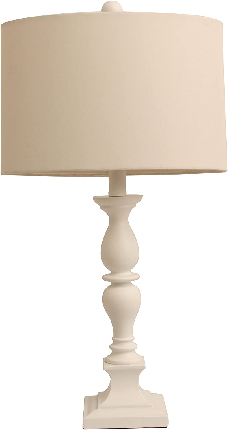 Décor Therapy TL9488 Satin White Table lamp