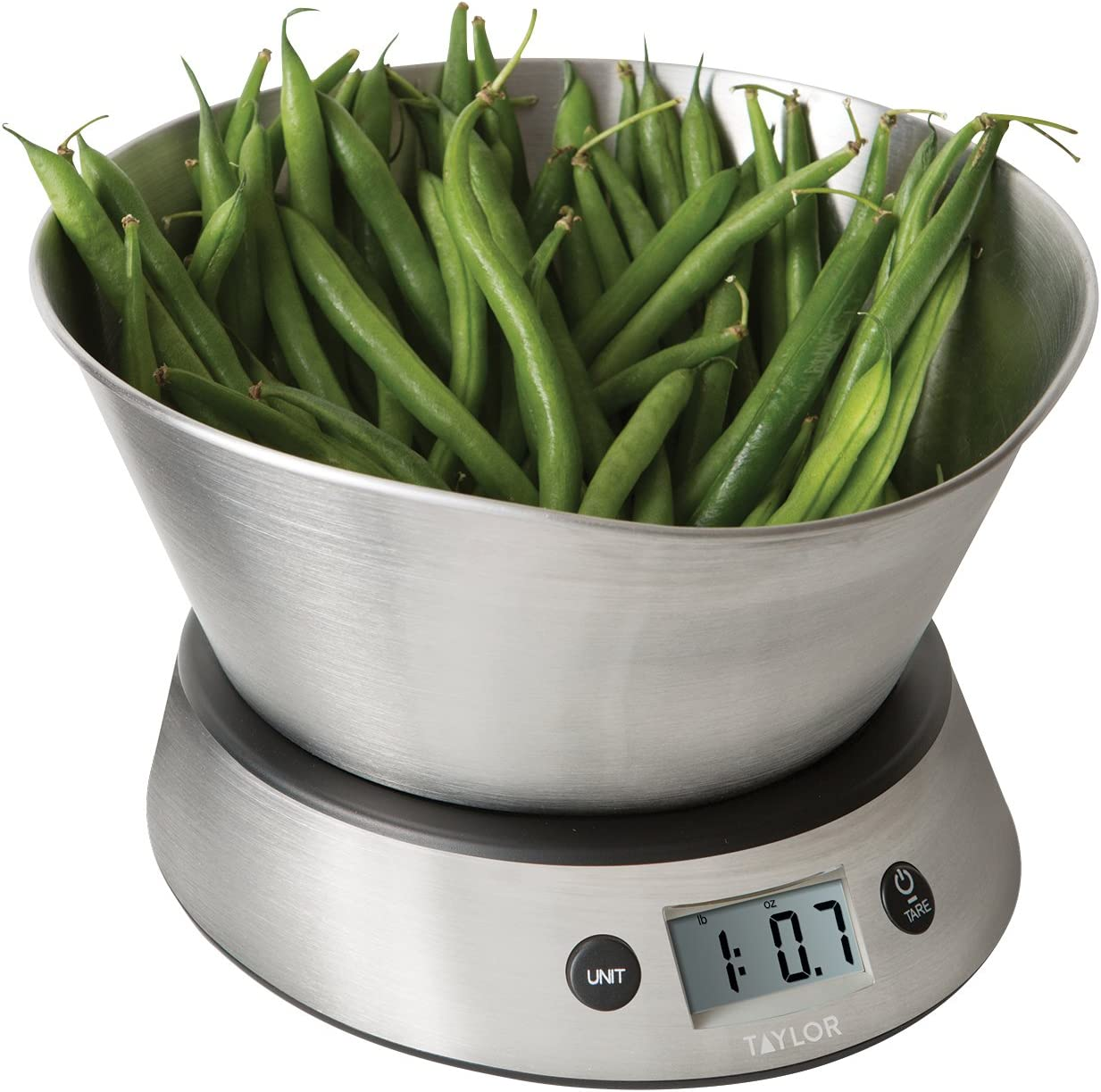 Taylor Weighing Bowl Digital Kitchen Scale 11 Lb Capacity Amazon Ca Home Kitchen