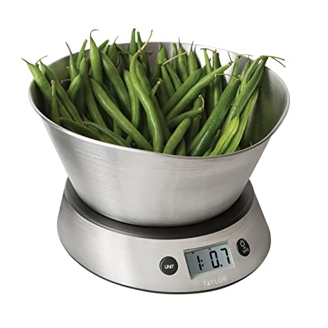 Taylor Weighing Bowl Digital Kitchen Scale 11 Lb Capacity