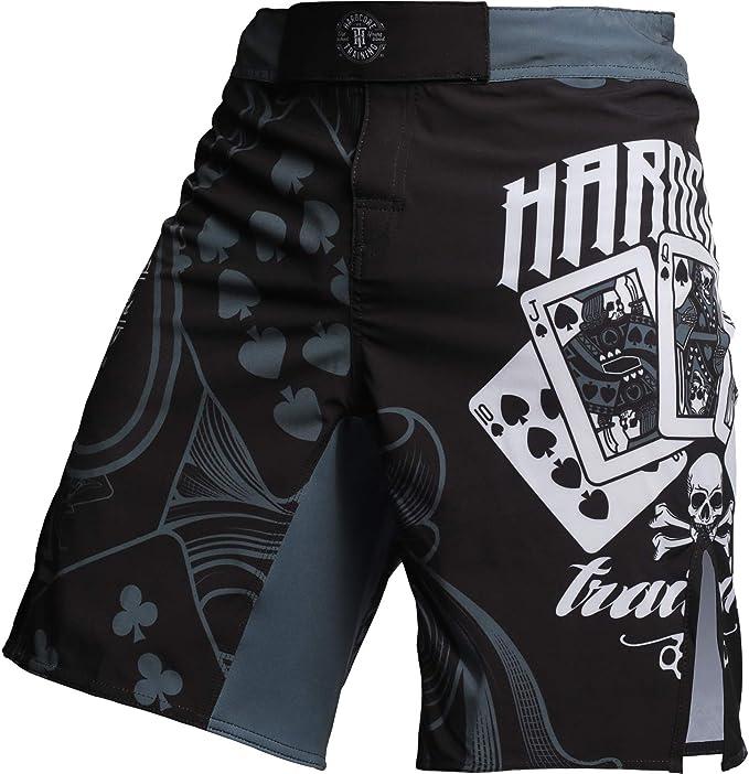 Hardcore Training Fight Shorts Mens The Gambler Kampfsport Boxen Kurze Sport MMA BJJ Fitness Active