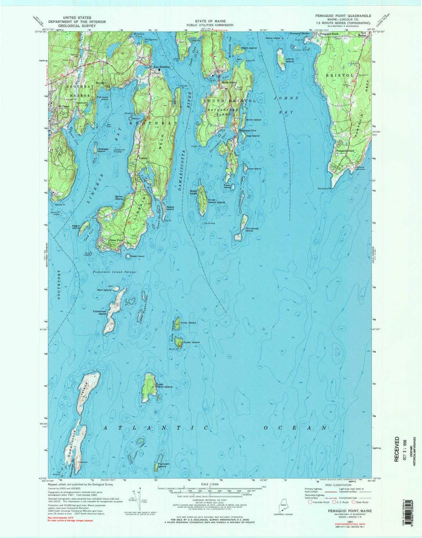 Amazon.com : YellowMaps Pemaquid Point ME topo map, 1:24000 ...