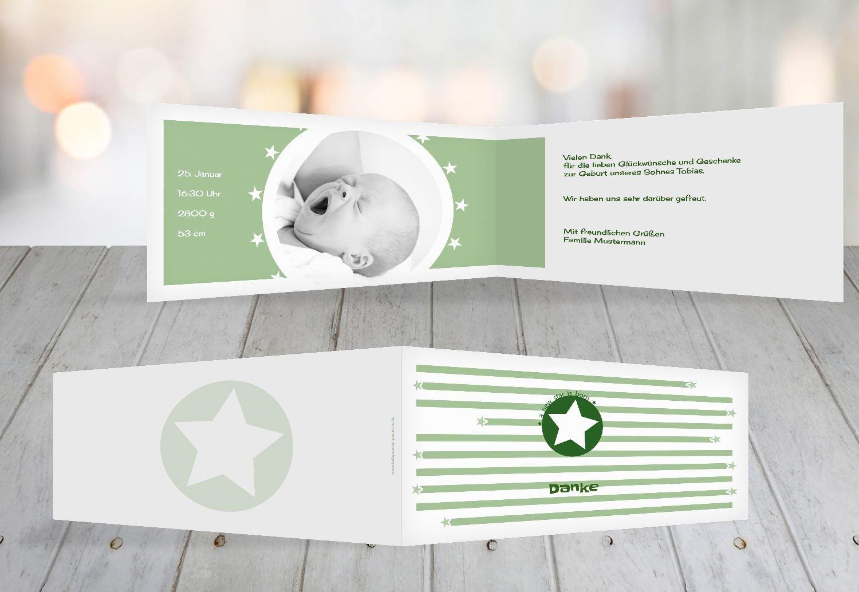 Kartenparadies Danksagung für Geburt Baby Dankeskarte a new star, hochwertige Danksagungskarte Baby inklusive Umschläge   100 Karten - (Format  215x105 mm) Farbe  Hellbraun B01N7Y4H8X | Stilvoll und lustig  | Mittel Preis  | Sonderaktionen zum