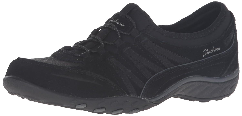 Skechers Sport Women's Relaxation Breathe Easy Moneybags Sneaker B01EGOMV1G 8 B(M) US|Black Suede
