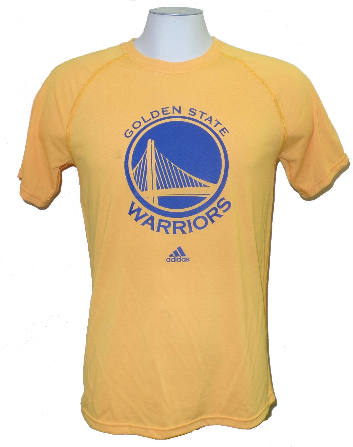 Golden State Warriors Gold Climalite Primary Logo T Shirt 1217