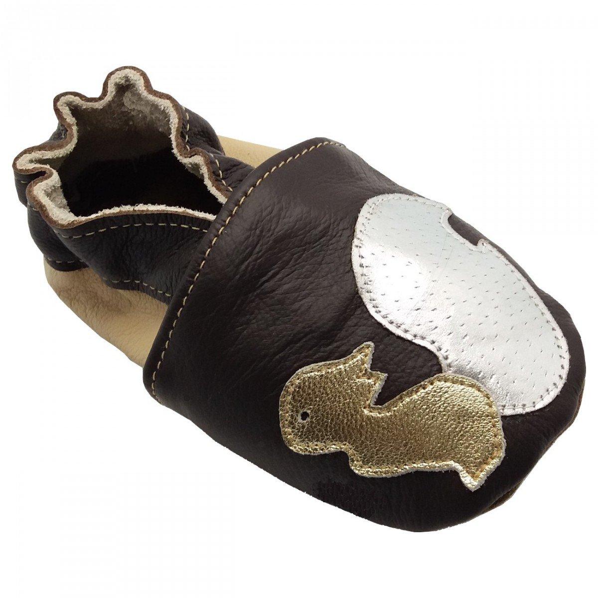 c2ba6097127fe Noisette de BBKDOM - Chaussons bébé et enfant en cuir souple de qualité  supérieure Fabrication Européenne
