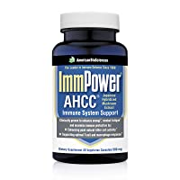 American BioSciences ImmPower AHCC Supplement, 60 Vegetarian Capsules, Enhanced Immune Support, Natural Killer Cell Activity and Cytokine Production, 500 milligrams per Capsule