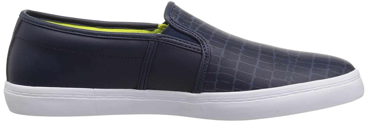 Lacoste Women's Gazon Slip-ONS B0721P7WZ7 8 B(M) US|Nvy/Fluro Ylw Leather