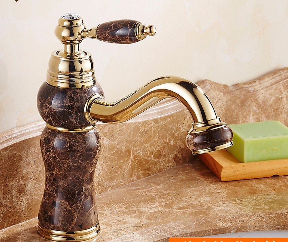 Bathroom taps SCLOTHS SCLOTHS SCLOTHS SCLOTHS Badezimmer Waschtischarmaturen Moderne,Kupfer,Heißen und Kalten Wasserhahn,Gold,T-1017 f5e930