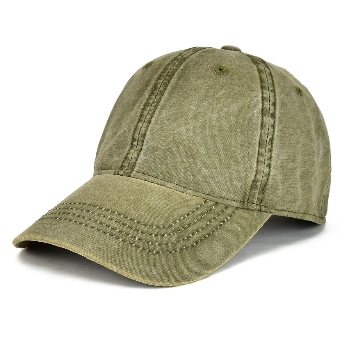 9685311d91368e Army Green VOBOOM Men Washed Cotton Vintage Dad Dad Dad Hat Adjustable  Baseball Cap Trucker Hat b27b9f