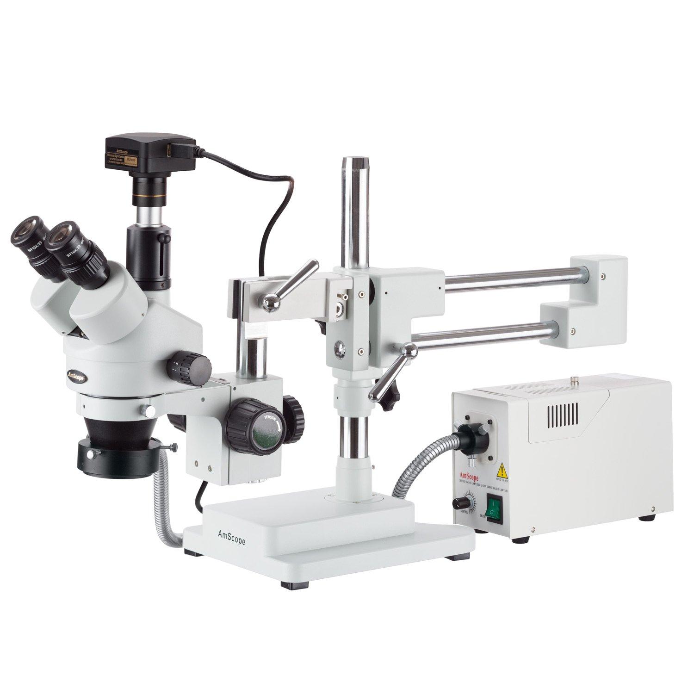 Amscope Amscope Amscope 3,5 x 180 x Trinokular Faser Boom Stereo Mikroskop und 10 MP USB3 Kamera B0719B3MYP | Realistisch  | Sale Online  | Merkwürdige Form  f454a9