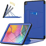 Galaxy Tab A 10.1 Inch T510/T515 Case 2019 with 6 Angles Robust Magnetic Stand and Card Slot, HXCASEAC [Full Body] & [Shock A