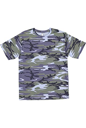 Amazon.com  Code Five Men s 100% Cotton Camouflage Crew Neck Short ... 8857f467ad3
