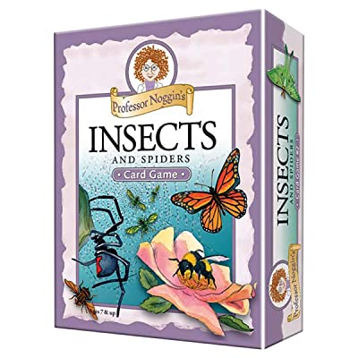 Professor Noggin's Insects and Spiders - A Educational Trivia Based Card Game For Kids - Features 30 Illustrated Cards and a 3-Number Die (Ages 7+): Toys & Games