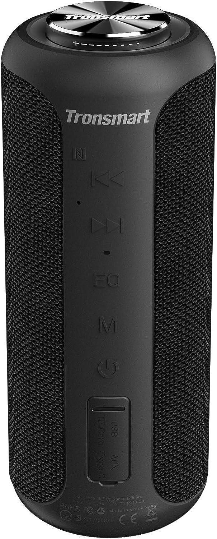 Tronsmart T6 Plus Edición Mejorada Altavoz Bluetooth 40W, Altavoz Portatil Sonido Estéreo 360°TWS, Efecto de Triple Bajo Potente, Waterproof IPX6 con Powerbank, 15 Hora de Reproducción, y Manos Libres