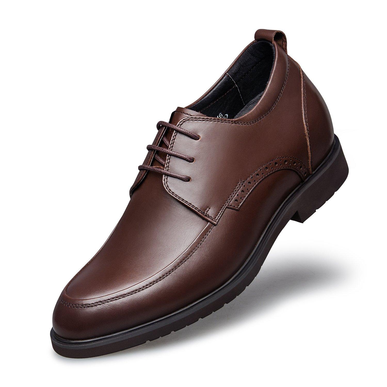 ZRO Men's Lace-Up Dress Oxford Moc Toe Shoe Brand Business Brown US 5