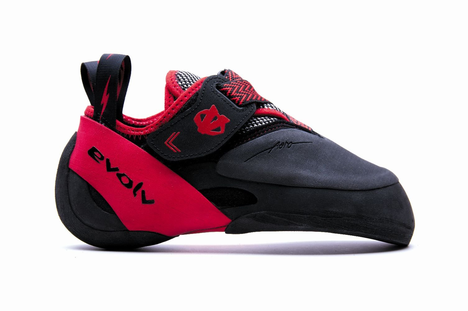 Evolv Agro Climbing Shoe - Black/Red 10.5