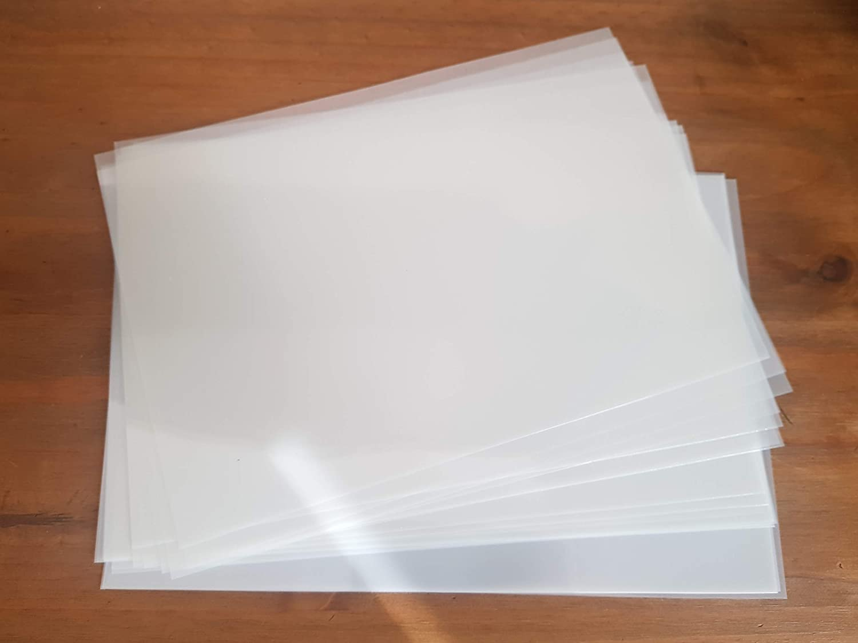 A4 X 10 stencil sheets 125 micron Mylar thin clear reusable stencil craft art Ideal Stencils