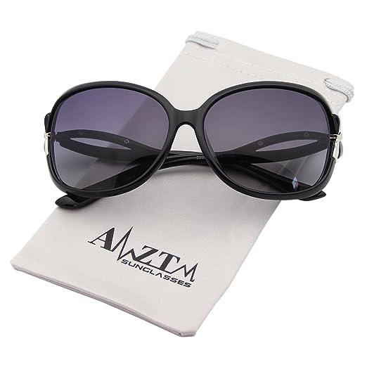 68b712e7fd AMZTM Classic Fashion Driving Shades Oversized Frames Eyewear Polarized  Sunglasses For Women (Black