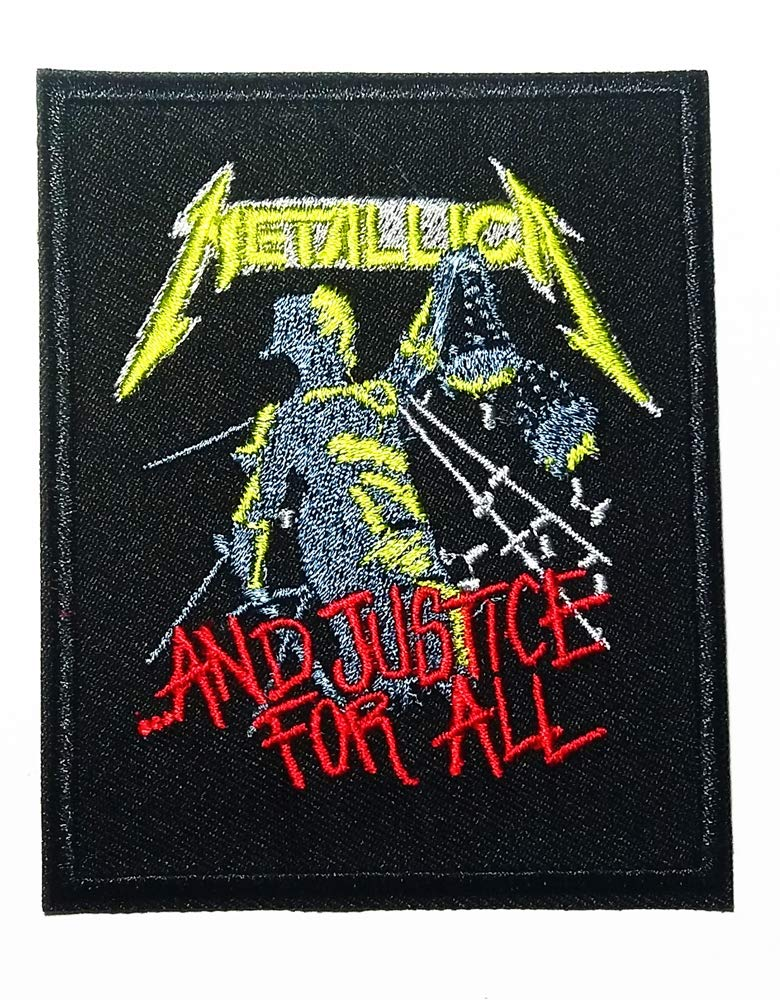 American Metal Band and Justice for All Rock Music Heavy Metal Logo Patch Embroidered Sew Iron On Patches Badge Bags Hat Jeans Shoes T-Shirt Applique music ct-1
