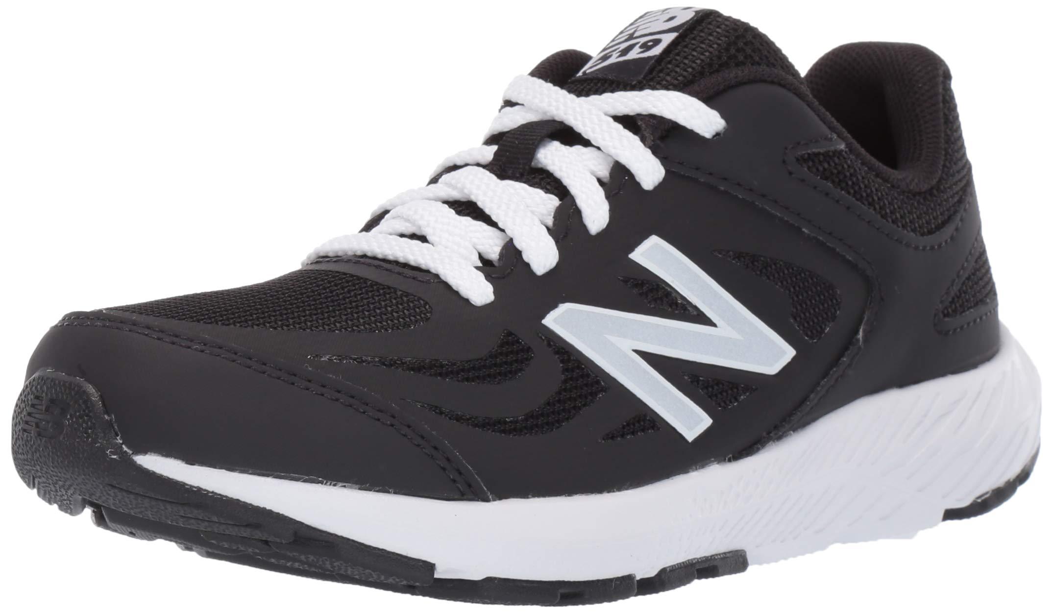 New Balance Boys' 519v1 Running Shoe, BLACK, 45XW