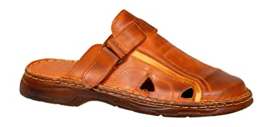 b4214c3f2ca Lukpol Mens Orthopedic Sandals Buffalo Leather Footwear Model-809 ...