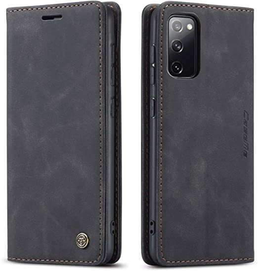 Stand Function Magnetic Closure Samsung Galaxy S20 FE Premium Leather Case Galaxy S20 FE Case Card Slots Shockproof TPU interior