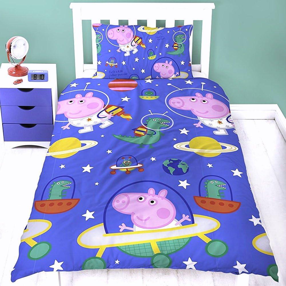 Peppa Wutz Kinder Bettw/äsche Peppa Pig Mikrofaser 2-teilige Garnitur f/ür Kinderbett Bettbezug und Kissenbezug