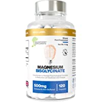 Magnesium Bisglycinate   1000mg Dose / 500mg Capsules   120 Capsules / 60 Servings (2 Months)   Highest Bioavailability…