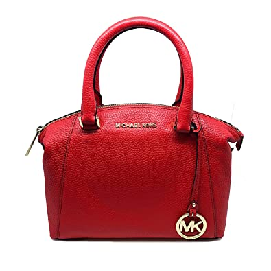 Amazon.com  Michael Kors Riley Small Satchel Bag Leather DK Sangria  (35S8GRLS1L)  Shoes da877a9fc