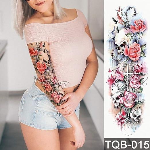 tzxdbh Nueva Etiqueta engomada del Tatuaje Temporal patrón de ...